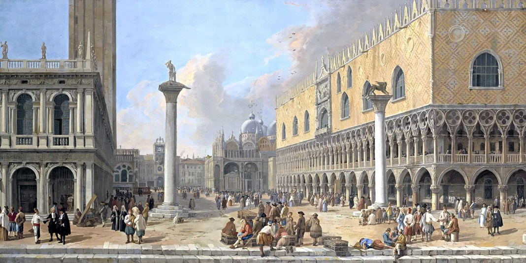 Luca Carlevarijs – The Piazzetta at Venice