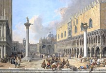 Luca Carlevarijs – The Piazzetta at Venice