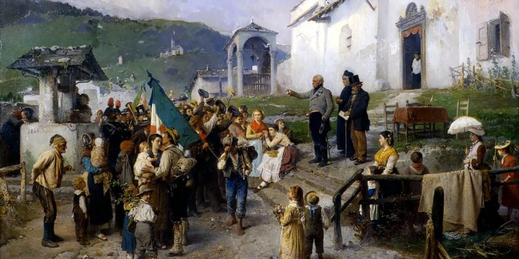 La partenza dei coscritti nel 1866. Gerolamo Induno