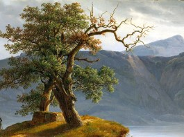 Thomas Fearnley. Landskap med vandringsmann