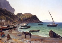 The Large harbor on Capri island. Sylvester Shchedrin