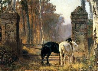 Old Gates. Normandy. Vasily Polenov