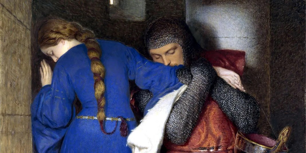 Hellelil and Hildebrand, the Meeting on the Turret Stairs. Frederick William Burton