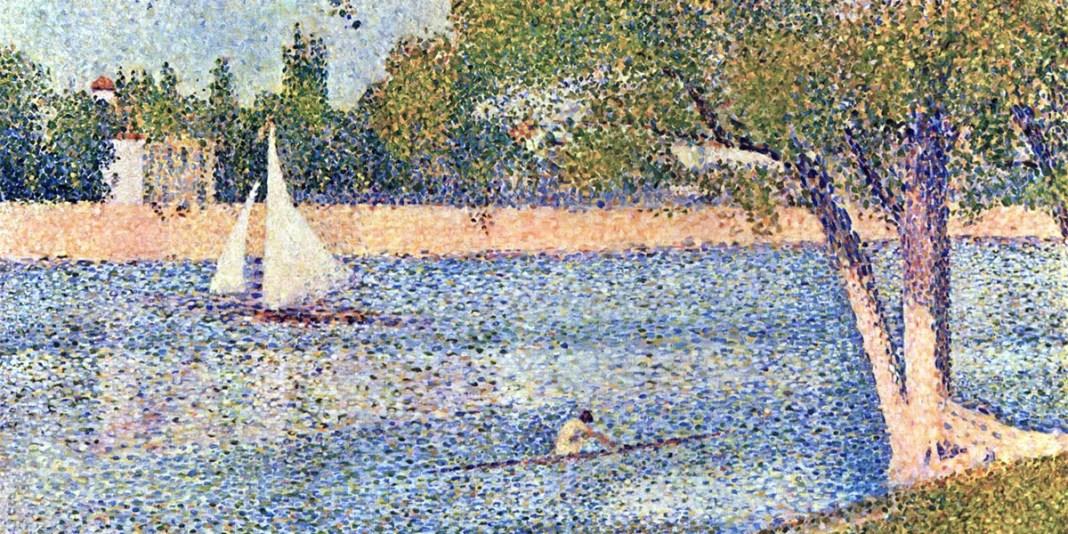 The river Seine at La Grande-Jatte. Georges Seurat