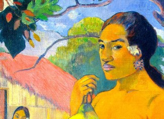 Woman Holding a Fruit di Paul Gauguin
