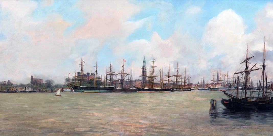 Robert Mols. The harbor of Hamburg