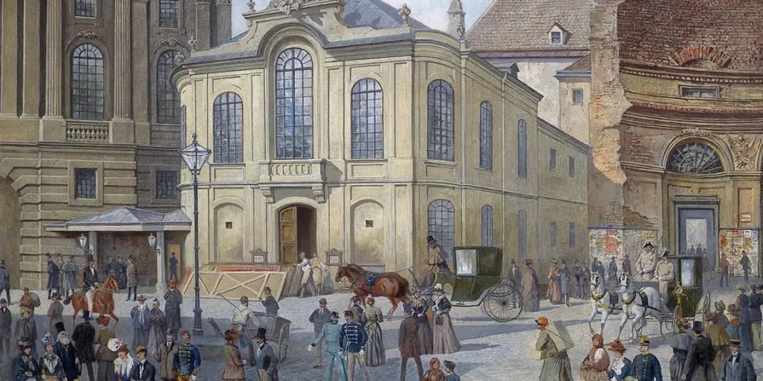 Vienna, davanti al vecchio Burgtheater. August Gerasch