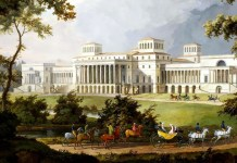 Projected garden facade (not completed) for Esterházy Palace. Albert Christoph Dies (1755–1822)