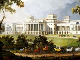 Projected garden facade (not completed) for Esterházy Palace. Albert Christoph Dies (1755–1822)