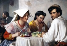 In a Roman Osteria. Carl Bloch