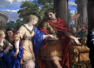 Pietro da Cortona, Cesare rimette Cleopatra sul trono, 1637-1643, Lione, Musée des beaux-arts