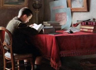 L'écolier studieux. Guillaume Larrue