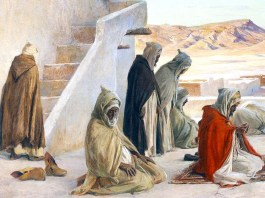 The Pray at Bou-saada, Algeria, Eugène Girardet