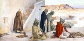 The Pray at Bou-saada, Algeria, Eugène Girardet