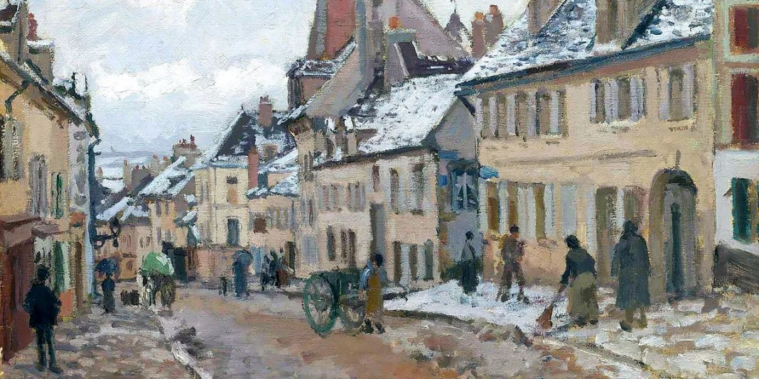 Pontoise, the Road to Gisors in Winter, Camille Pissarro (1873)