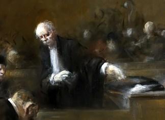 Courtroom Scene. Jean Louis Forain