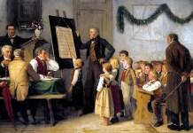 The school exam, Albert Anker (1862)