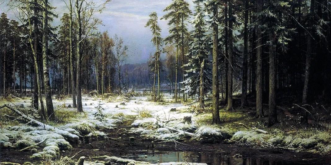 First snow. Ivan Shishkin