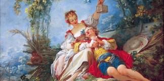 """The Happy Lovers"" di Jean-Honoré Fragonard"
