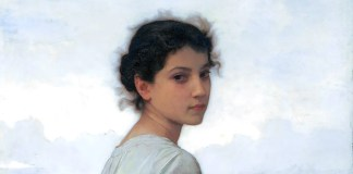 The young shepherdess, by William-Adolphe Bouguereau