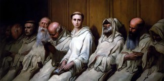 The Neophyte (First Experience of the Monastery). Gustave Doré