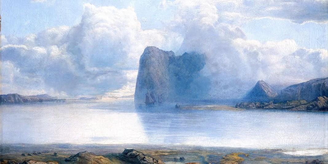 """Island Borgøya (1867)"" di Lars Hertervig (1830–1902)"
