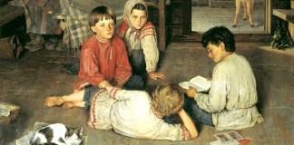 Nuove fiabe, di Nikolay Bogdanov-Belsky (1869-1945)