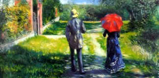 Rising Road di Gustave Caillebotte