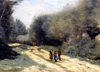 Crecy en Brie Road in the Country, Camille Corot