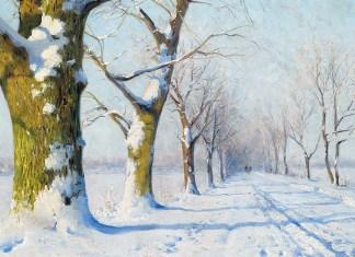 A sunny winter's day. Walter Moras