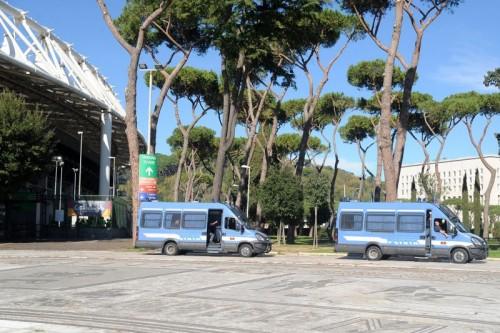 roma-lazio-polizia stadio olimpico