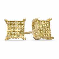 Gold Stud Earrings Men 14k White Gold Men S Black Diamond ...