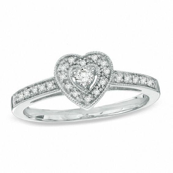 1/6 CT. T.W. Diamond Vintage