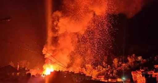 आगोलागीबाट ७ वटा बाख्रा र १ वटा गाईको जली मृत्यु
