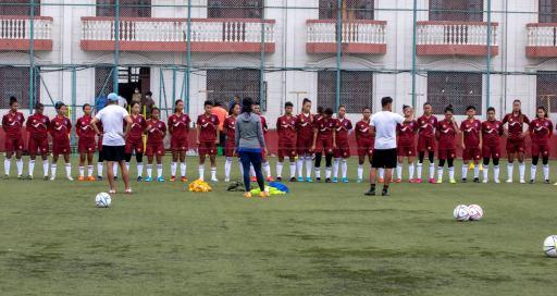 नेपाली राष्ट्रिय महिला फुटबल टिमको बन्द प्रशिक्षण सुरु