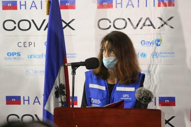 Dr. Maureen Birmingham, PAHO/WHO Representative in Haití