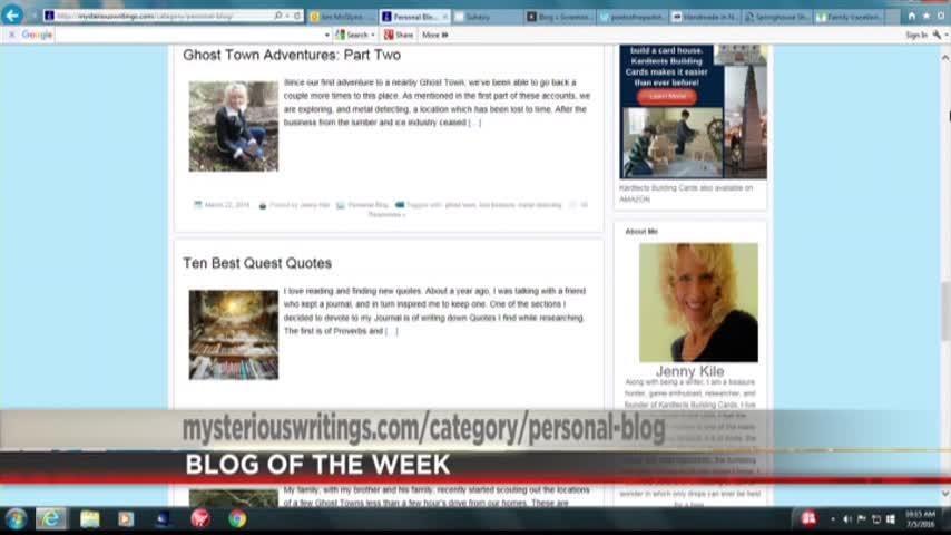 PA LIVE- BLOG OF THE WEEK-JENNY KILE-S MYSTERIOUS WRITINGS_05827338-159532