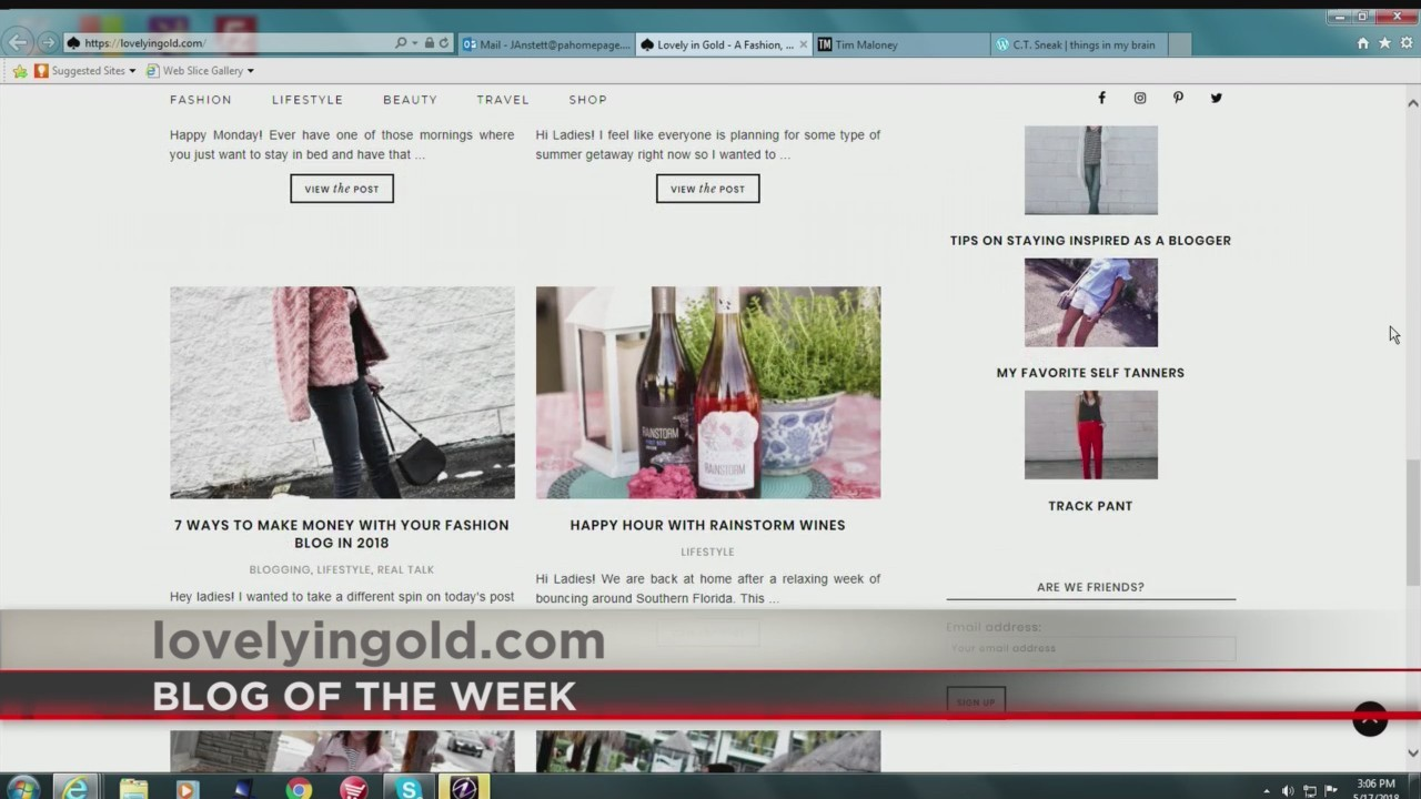 PA Live: Blog of The Week (Lovely in Gold) June 12, 2018