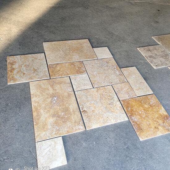 bulk french pattern floor tiles tumbled