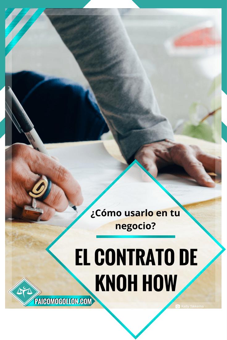 El contrato de know how
