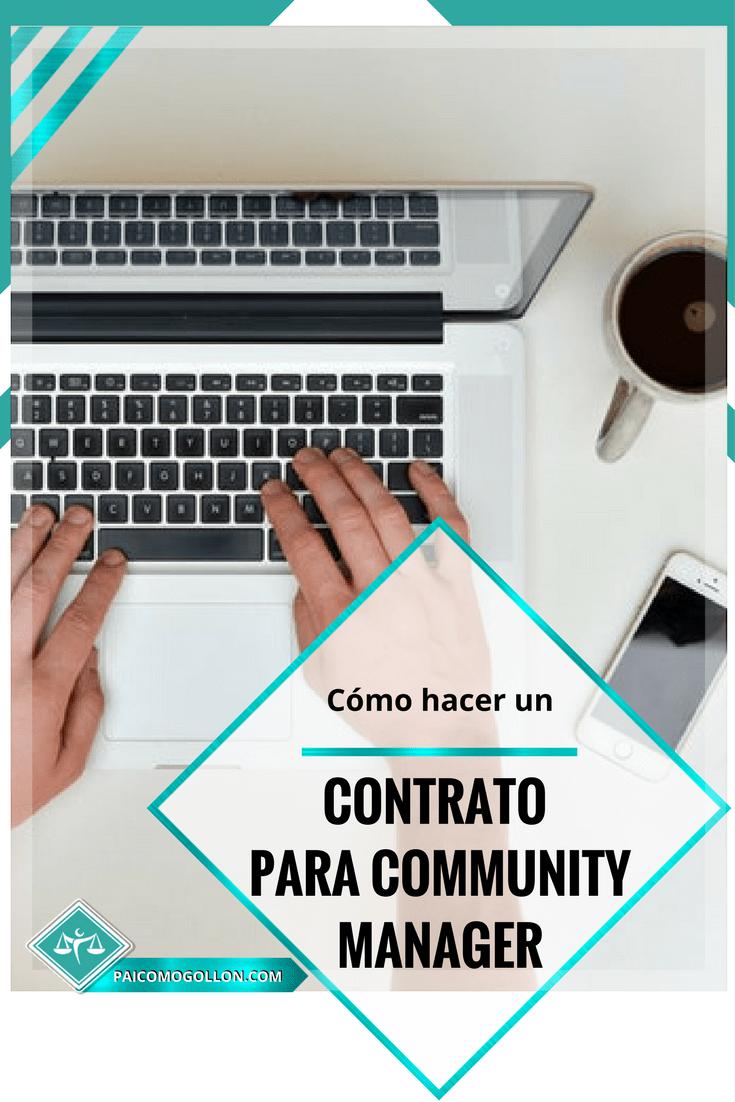 Contrato para community manager: cómo hacerlo