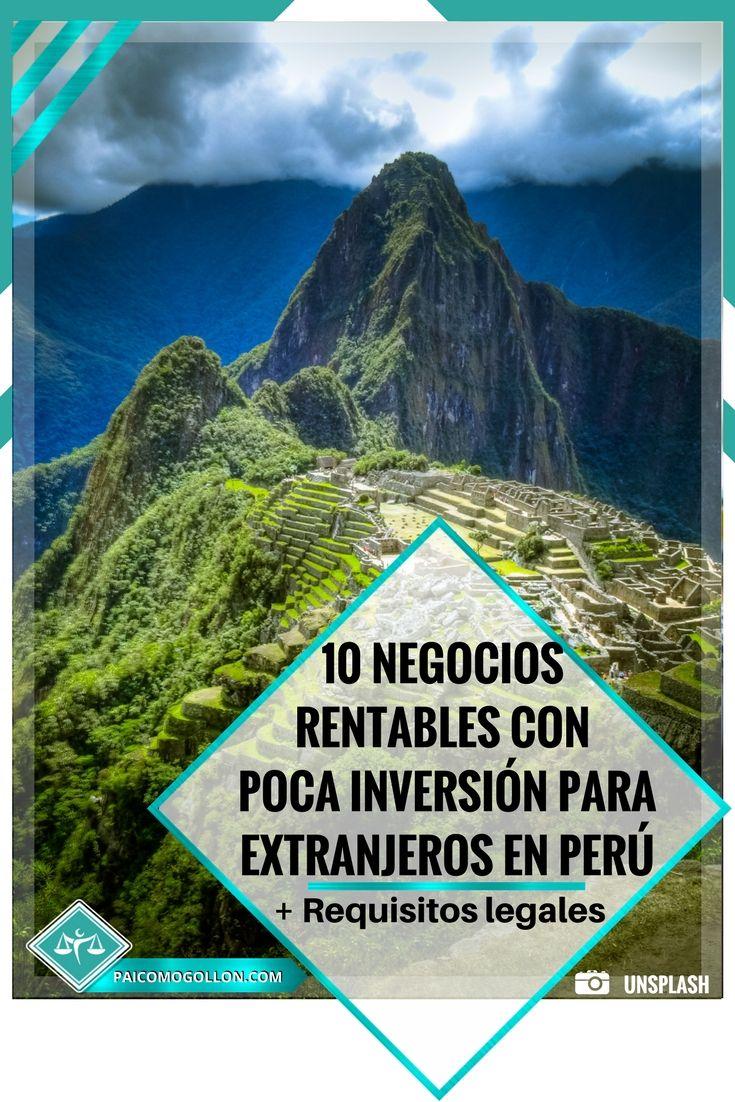 Crear negocios rentables con poca inversión en Perú