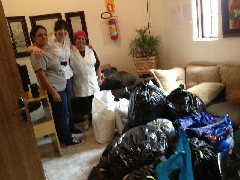 Cuidadora Sônia, Bruna, Cozinheira Teresa
