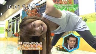 八田亜矢子アナ・モロ乳首ポロリ1