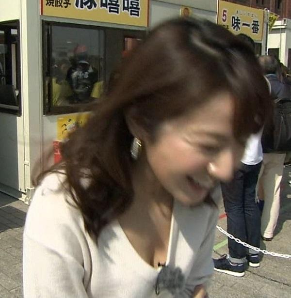 長野美郷アナおっぱいの谷間胸チラリ放送事故エロお宝画像