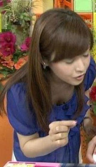 杉崎美香アナおっぱいの谷間胸チラリ放送事故エロお宝画像19
