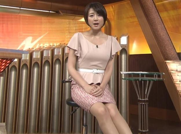 大島由香里アナ美脚パンチラエロお宝画像