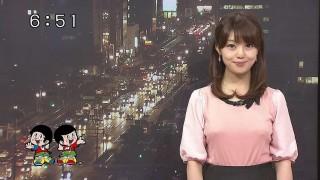 幸坂理加アナおっぱい乳首透け胸ポッチ放送事故エロお宝画像