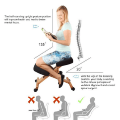 Posture Alignment Chair Cover Hire Pretoria East Top 5 Best Kneeling Reviews Buyer S Guide 2018 The Seat Should Be Adjustable To Avoid Hip Muscle Strain Again With A Typical 90 Degree Angle Office Pelvis Is Shifted Forward And Even