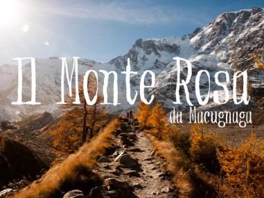 Lago delle Locce: il Monte Rosa da Macugnaga